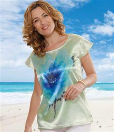 Tee-Shirt Tunique Satiné #atlasformen #avis #discount #livraison #commande #printemps #spring #atlasforwomen