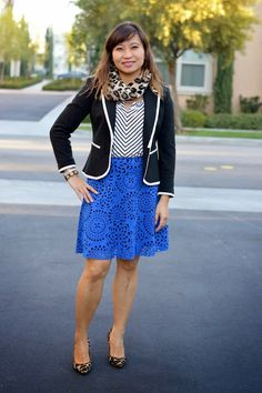 Stripes with Laser Cut Skirt