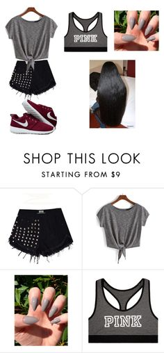 """Untitled #778"" by qveenkyndall16 ❤ liked on Polyvore featuring NIKE and Victoria's Secret"