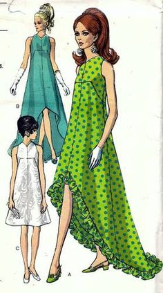 Vintage 60s Vogue 7351 Special Design Dress Sewing Pattern B38 16 | eBay