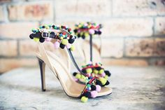 The ASOS Hippie Shake Leather Sandals with T-Bar Pom Pom Detail #hotshoetrends