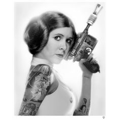Princess-Leia-Black-and-White-by-JJ-Adams-