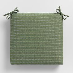 Olive Green Overstitched Outdoor Patio Chair Cushion - Polypropylene by World Market & 41 Top Patio Chair Cushions images | Patio chairs Arredamento Home ...