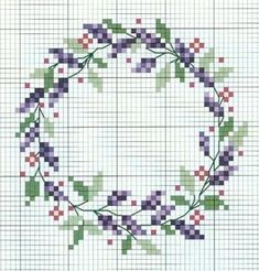 cross stitch lavender…