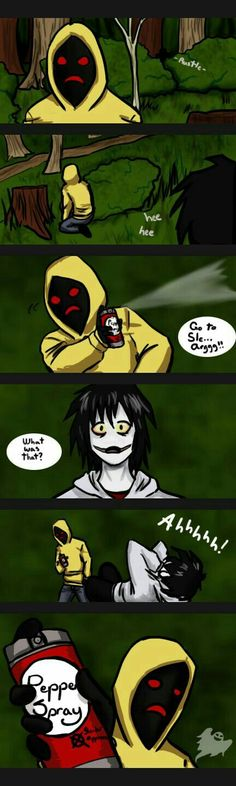 Jeff the killer and Hoodie funny xD