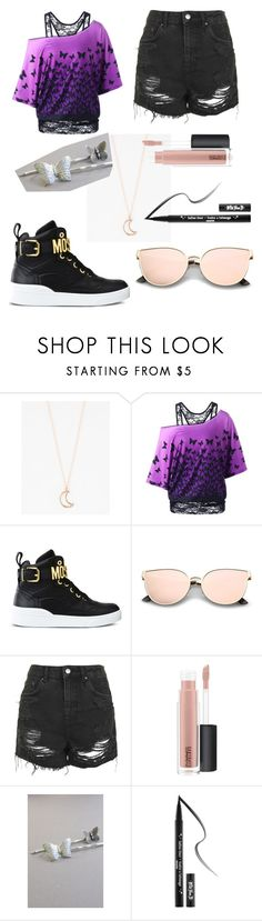 """late night coffee run?"" by eviebanker on Polyvore featuring Full Tilt, Moschino, Topshop, MAC Cosmetics and Kat Von D"