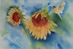 Sonnenblumen Aquarell