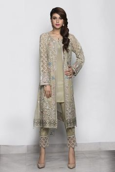 indian designer wear here is the latest collection of best latest party wear embroidered shirts with pencil, cigarette trousers and smoky pants designs Pakistani Fashion Party Wear, Pakistani Formal Dresses, Indian Party Wear, Pakistani Dress Design, Pakistani Outfits, Indian Dresses, Indian Outfits, Indian Fashion, Bollywood Fashion