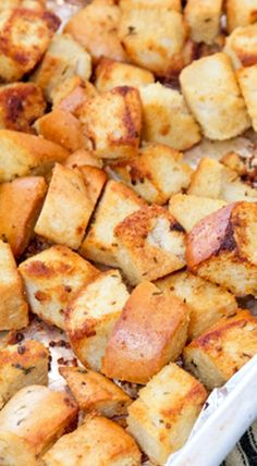 Homemade Garlic & Herb Croutons