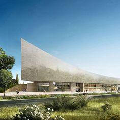 Herzog & de Meuron unveils curving stone design for contentious Israel library