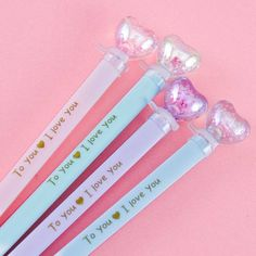 Light Up Shiny Heart Pen Japanese Pen, School Supply Store, Pastel Cupcakes, Lollipop Candy, Pen Shop, Kawaii Gifts, Kawaii Stationery, Kawaii Shop, Welcome Gifts