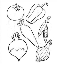 Daniel 1- veggie coloring sheet