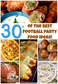 Over 30 of the BEST Football Party Food ideas & Recipes - all of these are Amazing and so easy to make. Your guest will love them on Game Day!