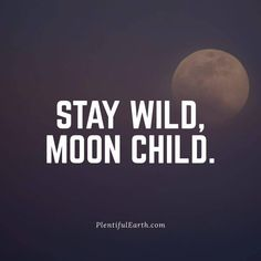 """Share this amazing Wiccan and Pagan quote on Facebook, Twitter, Pinterest and more! Visit our Fountain of Inspiration for more Positive Quotes! """"Stay Wild, Moon Child."""" Moon Quotes, Life Quotes, Quotes On Stars, Quotes On Magic, Moon And Star Quotes, Drake Quotes, Crush Quotes, Happy Quotes, Quotes Quotes"""