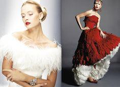 Feathers Wedding Dress