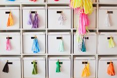 Bright tassels hanging on a drawer! #ASubtleRevelry