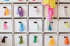 Bright tassels hanging on a drawer! #ASubtleRevelry