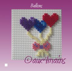 Hearts hama perler by aux4mains