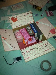 Care Package Ideas & Tips - Military Wives Club Decorate the flaps, put the cookies in little plastic tubs so they don't slip around and break and I love the creative cursing book idea.