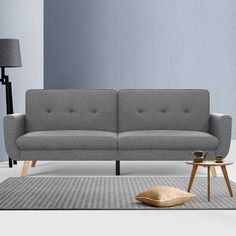 Artiss Sofa Bed Lounge Set Couch Futon 3 Seater Fabric Reliner 197cm Grey  Only AUD$445.06!   Snuggle up with our Artiss 3-seater Sofa Bed that functions both as a luxurious lounge and as a spare bed for unexpected overnight guests when needed. Constructed with a solid wooden frame and filled with high-density foam, our breathable faux linen upholstered sofa bed is sturdy in every way. The solid eucalyptus wood legs add a very natural touch to the entire ensemble while also excellent suppor