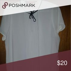 Sheer white top! Sheer white top with button neckline. No stains and in great condition. Forever 21 Tops Blouses