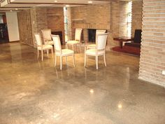 Polished Concrete Floors. kitchen and breakfast nook?