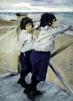 Children. Sasha and Yura Serov. 1899. Oil on canvas. The Russian Museum, St. Petersburg, Russia. Valentin Serov