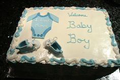 Red Velvet Baby shower cake