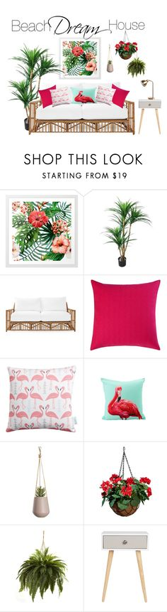 """""""Beach Dream House🌸"""" by kelseyaiden ❤ liked on Polyvore featuring interior, interiors, interior design, home, home decor, interior decorating, Serena & Lily, Betsey Johnson, Rosa & Clara Designs and Improvements"""