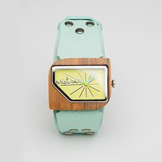 "Mistura ""Pellicano"" watch - wood and leather - yes please! Omg! OBSESSED!!!"