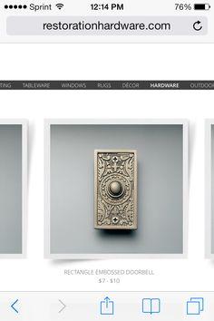 Doorbell cover … Doorbell Cover, Door Furniture, Design Inspiration, Design Ideas, Craftsman, Doorbells, Atlantic Beach, Hardware, Interior Design