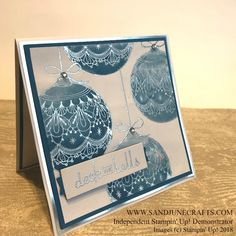 Beautiful Baubles Stampin Up, Brusho Christmas Cards 2018, Create Christmas Cards, Stampin Up Christmas, Christmas Baubles, Xmas Cards, Holiday Cards, Christmas Tag, Scrapbooking, Scrapbook Cards