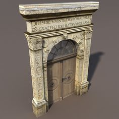 Buy Door Portal Low Poly model by Cerebrate on A model of a low poly Portal Door. Exterior only, no interior. The model includes a texture that is i. 3d Model Architecture, Architecture Background, 3d Building Models, Stone Archway, House 3d Model, Low Poly 3d Models, 3d Studio, Neoclassical, Mixed Media Canvas