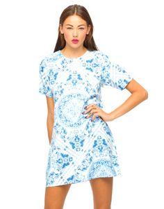 Motel Petal Printed Shift Dress
