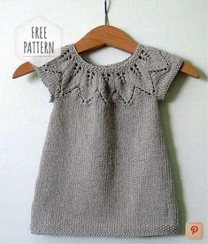 Knitting Vest for Kids - Kids # Knitting Patterns For Kids Baby Knitting Patterns, Knitting Terms, Baby Sweater Patterns, Knitting For Kids, Knitting For Beginners, Free Knitting, Knit Vest Pattern, Dress Patterns, Girls Knitted Dress