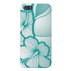 Stylized seashells 5 blue case for iPhone 5