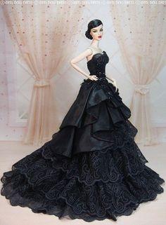 BArbie Doll in Black Dress