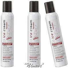 Keratin Instant Dry Shampoo 3 x 200ml Ice Cream Inebrya ® Fine & Greasy Hair