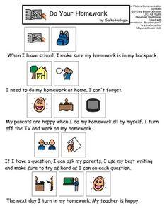 VISUAL SOCIAL STORY PACKET FOR CHILDREN WITH AUTISM: SCHOOL BEHAVIORS SET 2 - TeachersPayTeachers.com