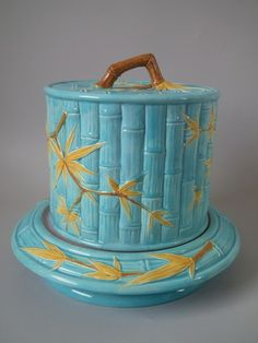 Worcester Majolica bamboo cheese dome & stand  $ 623.00