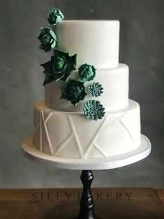 Weddingcake succulents