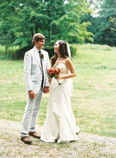 Brides: A Rustic Summer Wedding in the Berkshires