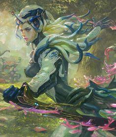 Warframe saryn prime by xiaobotong (detail) warframe art, alien concept, concept art Fantasy Character Design, Character Concept, Character Inspiration, Character Art, Alien Concept, Concept Art, Warframe Art, Beautiful Dark Art, Wolf