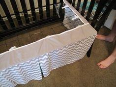DIY adjustable crib skirt!!