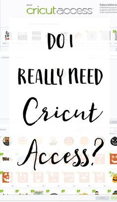 Do I really need Cricut Access to create projects in Cricut Design Space?