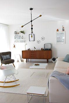 Lamp Molecular Black Livingroom Sofa White Chair Eames White