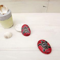 """126 Likes, 6 Comments - Christine Onward (@the_stunner_boutique) on Instagram: """"Miniature collectible rocks from my Deco Red collection #indigenousartinspiration #australia…"""""""