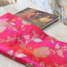Orange-Gulabi Pink Pure Katan Silk Banarasi Handloom Saree - Tilfi