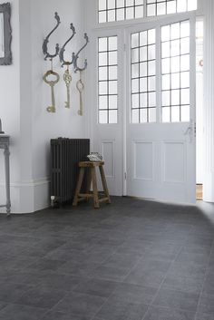 Our authentic tiled looks are great for entrances with their easy-clean properties. www.avenuefloors.co.uk Hallway Inspiration, Colour Schemes, Entrance, Flooring, Easy, Furniture, Color, Home Decor, Color Schemes