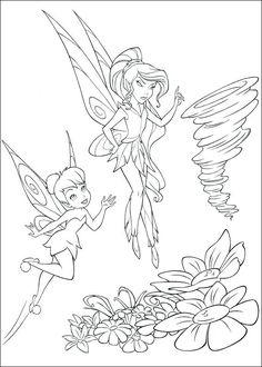 Dibujos Para Colorear Tinkerbell Plantil De Y Sus Amigas E Coloring Sheets For